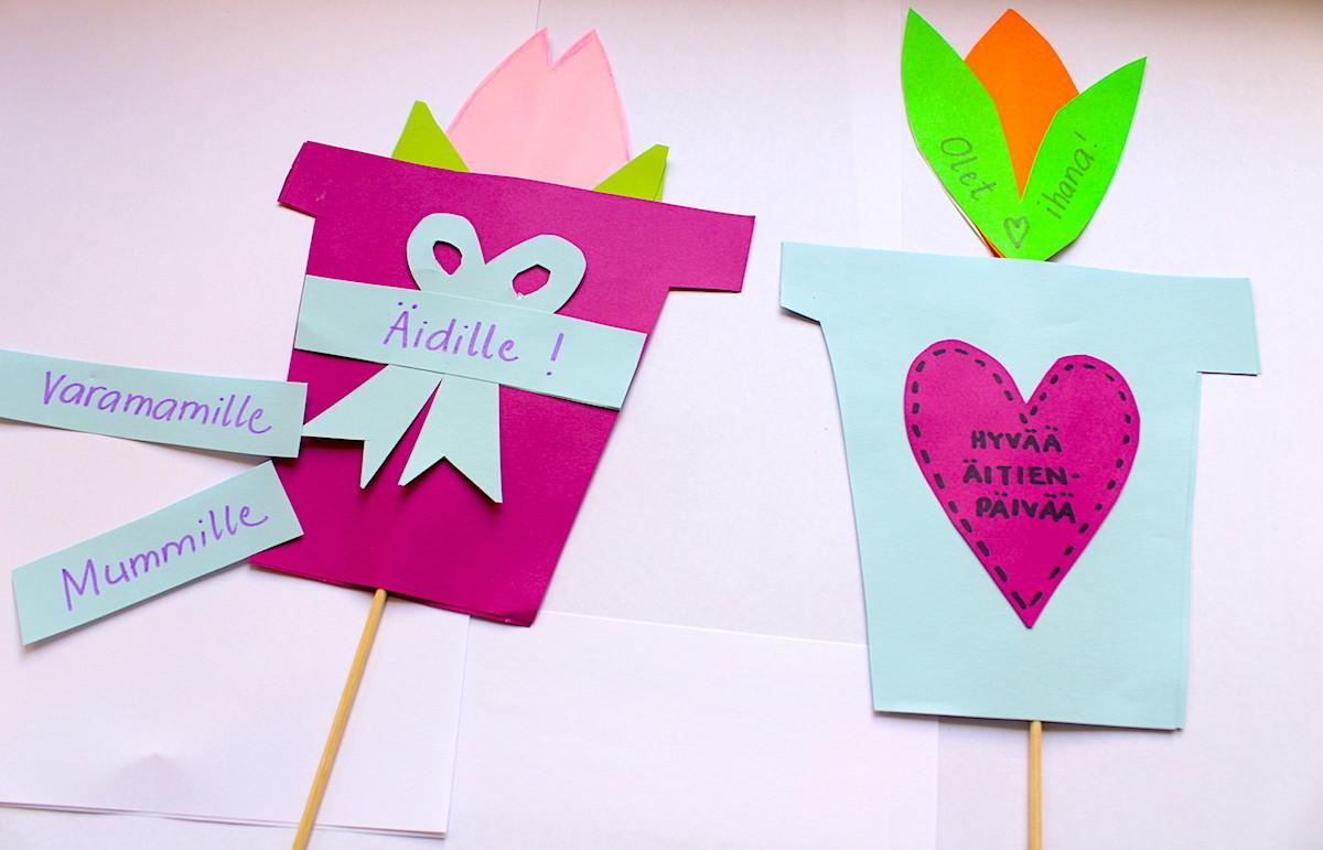 Sanoma Pron askarteluvinkki äitienpäiväksi: Värikkäät tulppaanit
