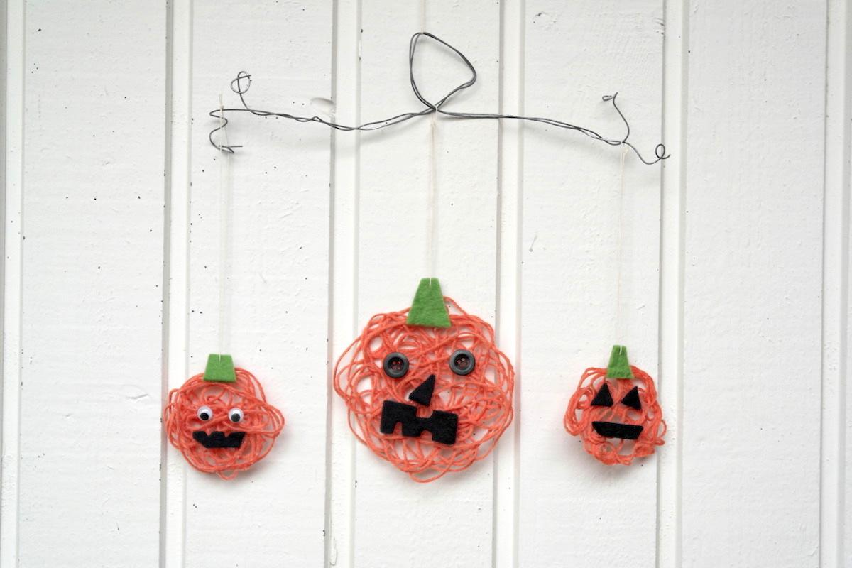 Sanoma Pron askarteluvinkki Halloweeniksi Värikäs kurpitsakoriste