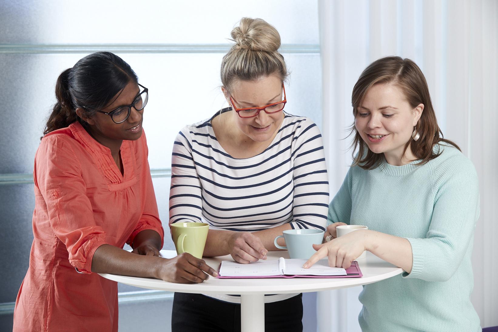 Opettajat suunnittelevat oppituntia