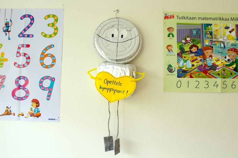 Sanoma Pron alakoulun matematiikan sarja Millin robotti seinäkoriste
