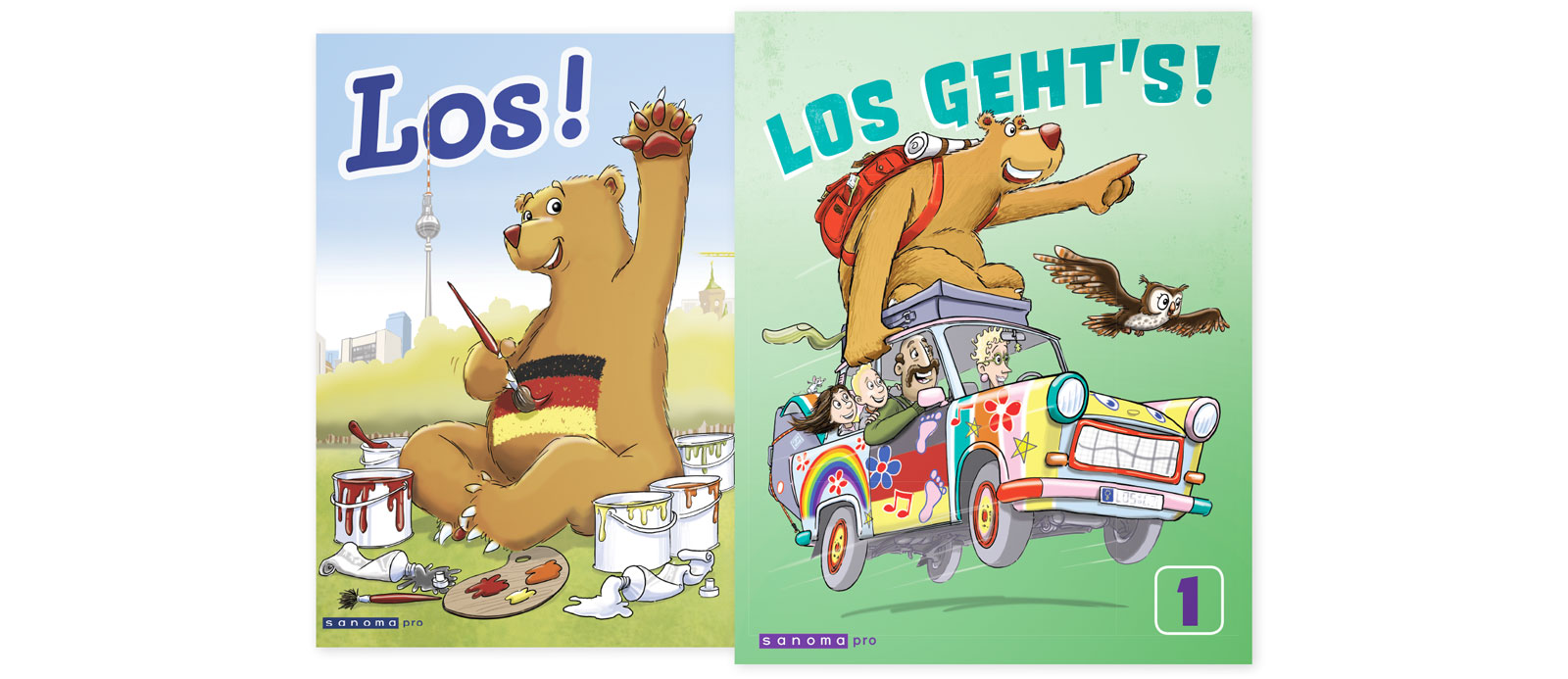 Sanoma Pron alakoulun saksan sarja Los geht's