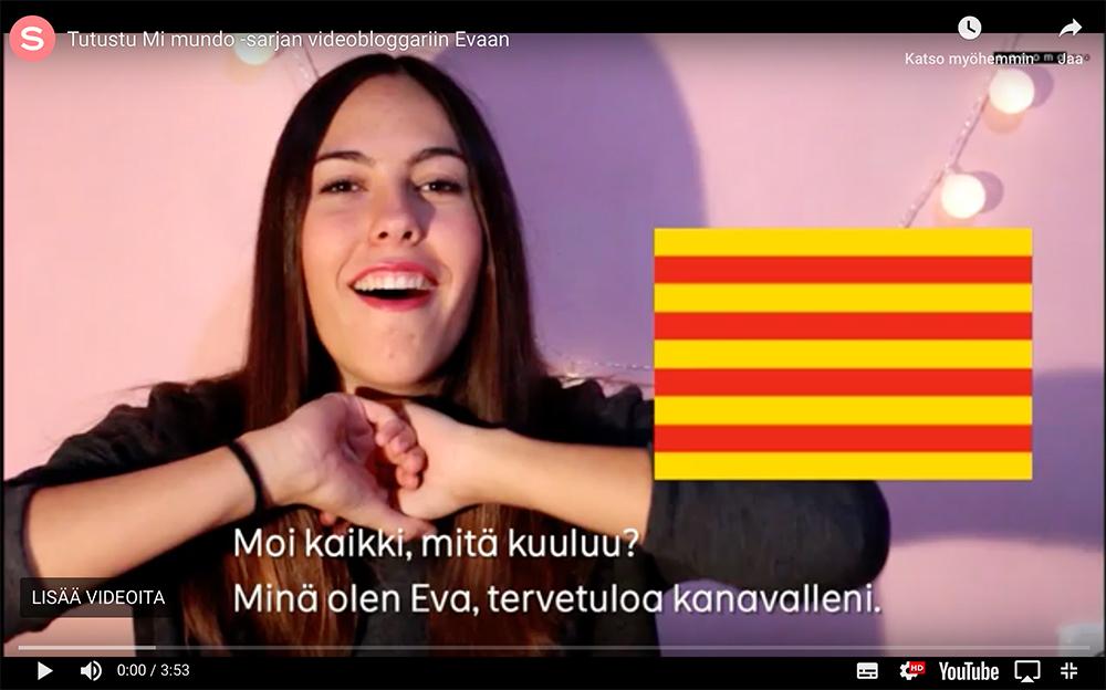 Eva Monzon valloittaa videoblogillaan Sanoma Pron espanjan sarjassa Mi mundossa.