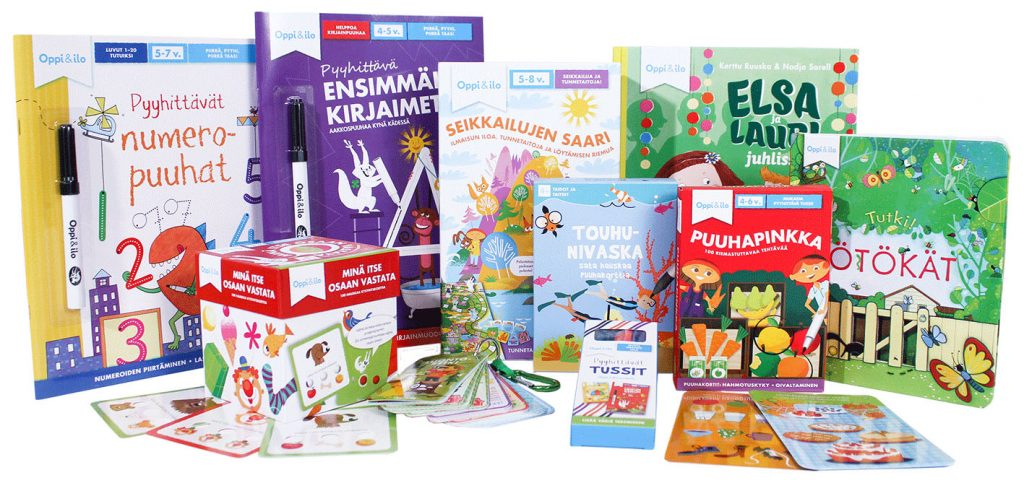 Tenavapaketti sisältää 10 tuotetta 3-5 -vuotiaille.