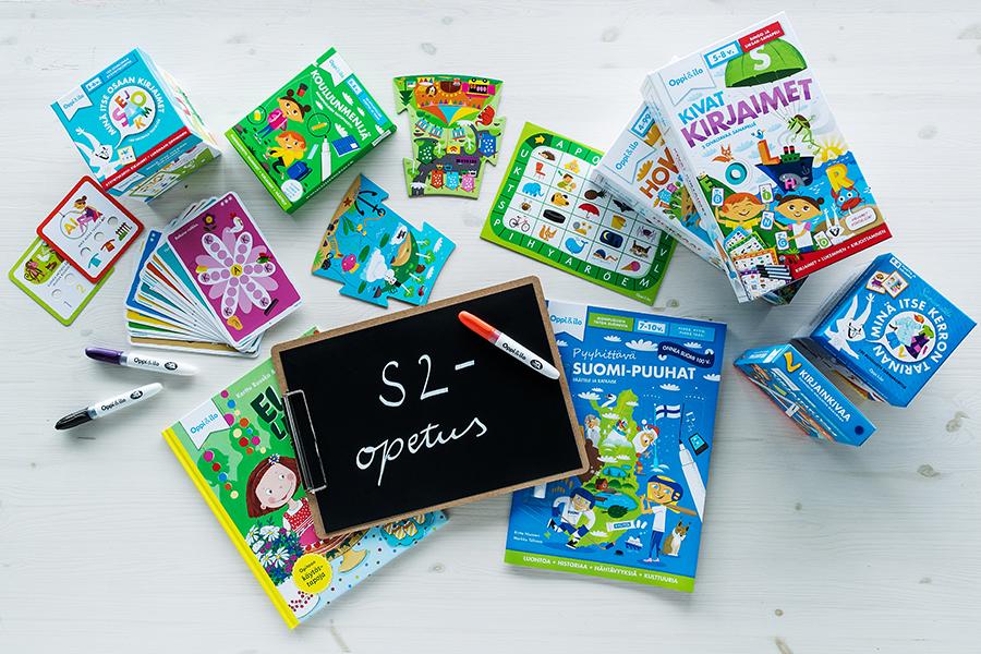 Oppi&ilo-paketti suomi toisena kielenä -opiskelun tueksi.