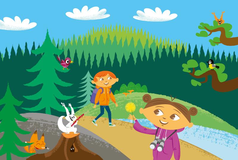 Metsässä liikkuminen tekee hyvää!