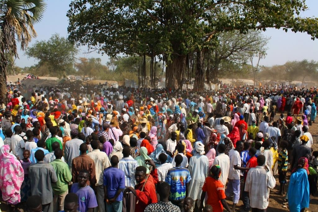 Large Crowd South Sudan