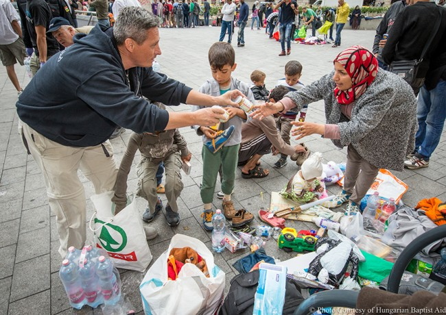 Samaritan's Purse is working with partners in Hungary and Serbia to distribute needed relief, including food and hygiene items, to refugees fleeing the Middle East.