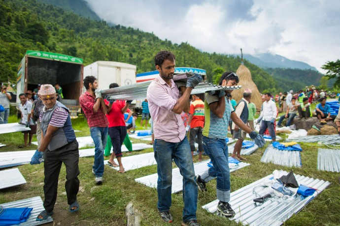 Samaritan's Purse is providing shelter materials to 25,000 families whose homes were damaged or destroyed in the Nepal earthquake.