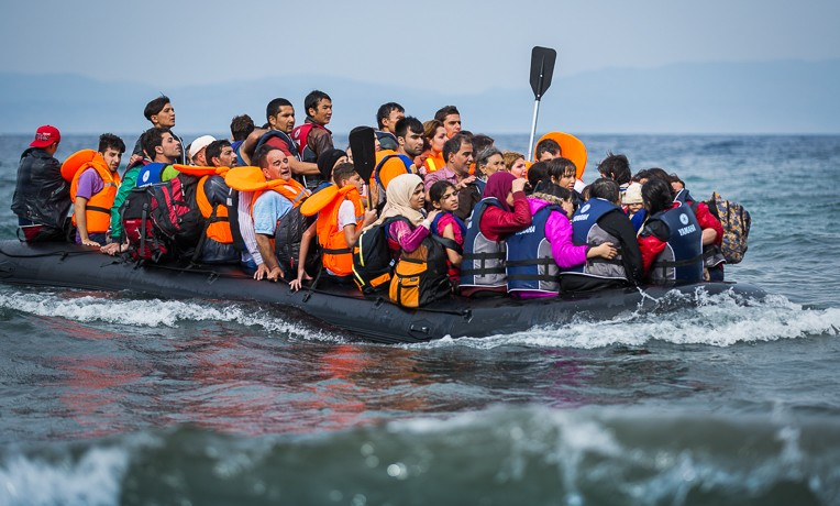 Refugees are risking everything to cross from Turkey to Greece.
