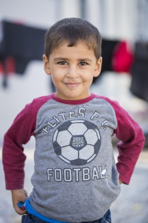 Ibraheem left Syria because he wants a better, safer life for his children.