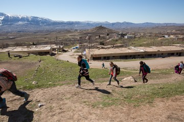 Iraqi children are taking a variety of classes at the Samaritan's Purse Child-Friendly Learning Space in this mountain village.