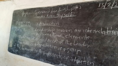 The classroom used to teach leadership skills