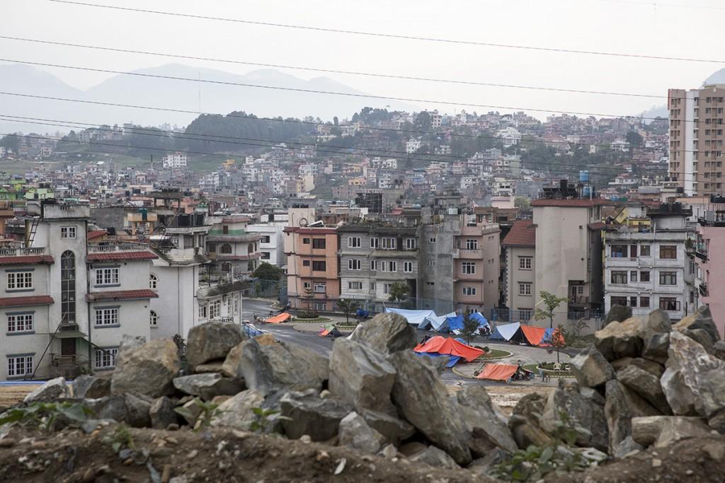 street scenes while driving through Kathmandu