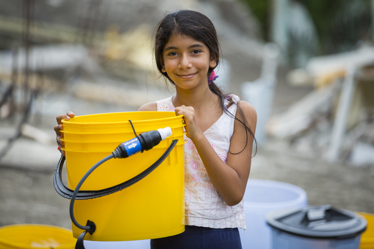 The people of Ecuador are grateful for access to clean water following the April earthquake.