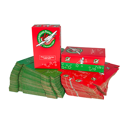 Pack of 100 preprinted shoeboxes