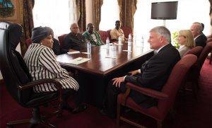 Franklin Graham met with Liberian President Ellen Johnson Sirleaf during his trip.