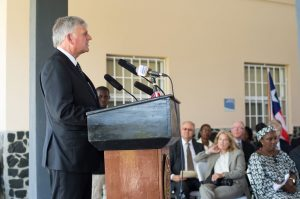 During today's dedication ceremony Franklin Graham said he prays ELWA Hospital is always a place where patients hear the gospel of Jesus Christ