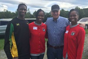 The twins with Franklin Graham
