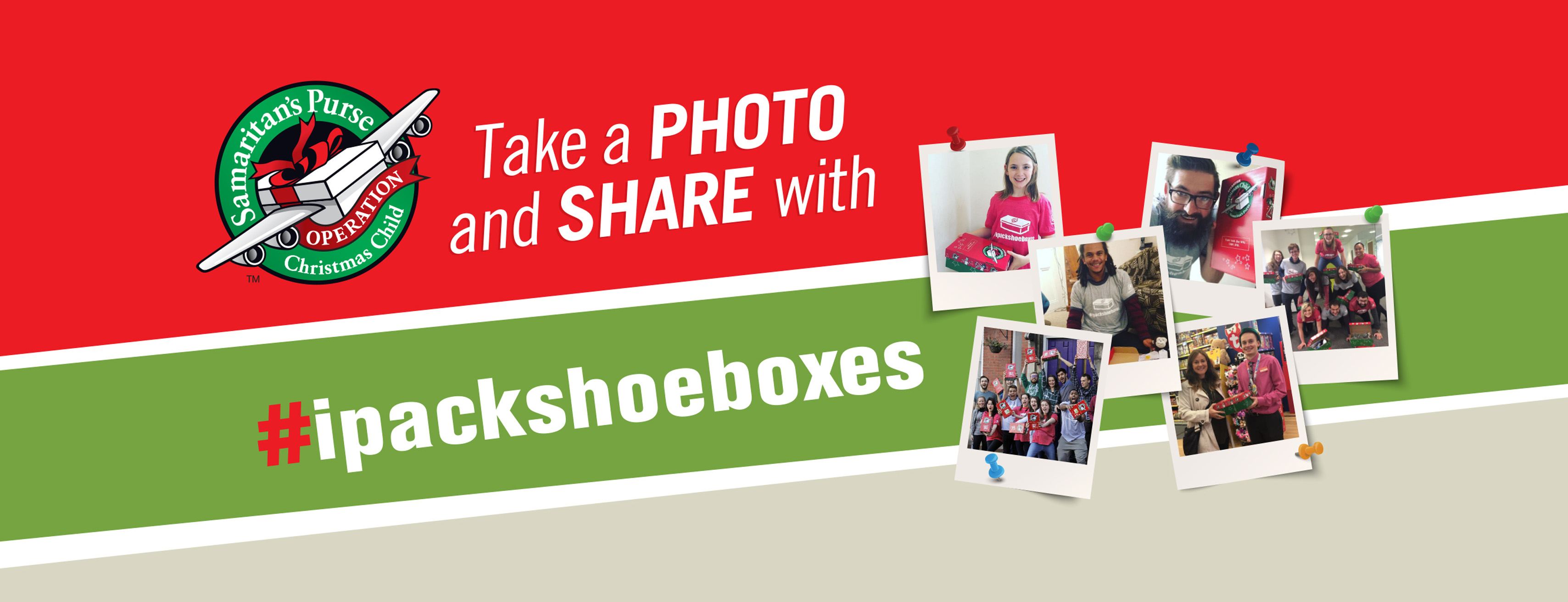 Take a photo and share with #ipackshoeboxes