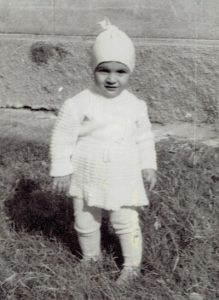 Olesea as an infant