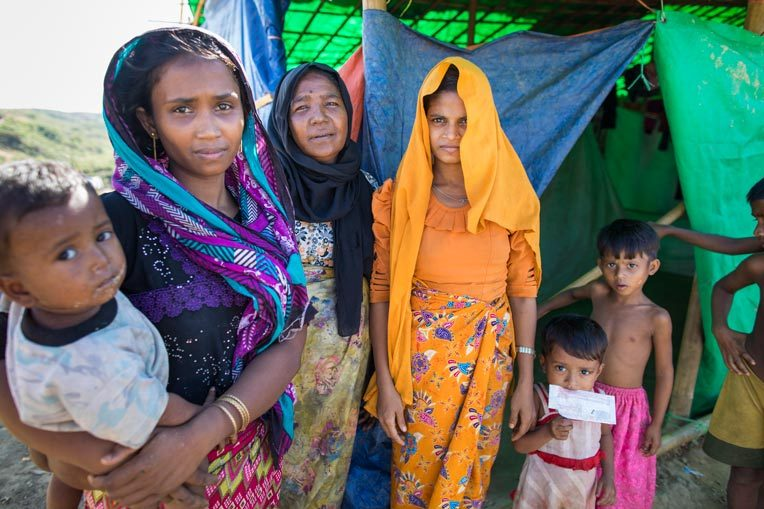 CLOSE TO 500,000 ROHINGYA ARE LIVING IN WHAT IS ONE OF THE WORLD'S LARGEST REFUGEE CAMPS.