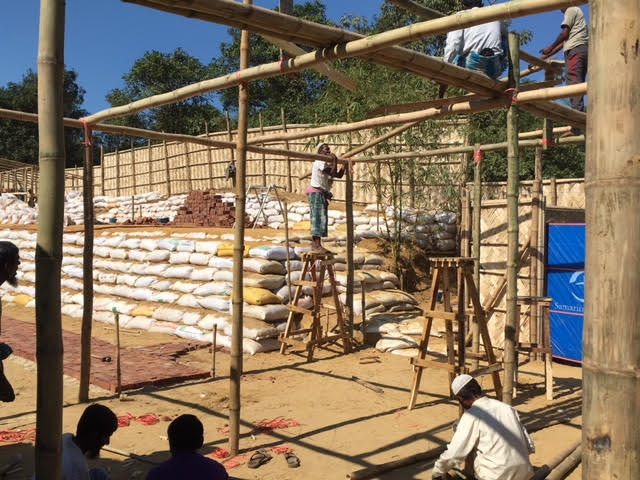 Over 10 days Samaritan's Purse staff and local labourers worked tirelessly to construct the clinic