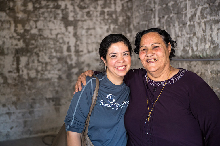Sana (right) is thankful to God for the help of Samaritan's Purse as her home is rebuilt and she rebuilds her life on the Nineveh Plains