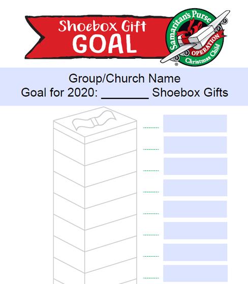 Shoebox Goal chart
