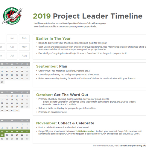 Project Leader Timeline