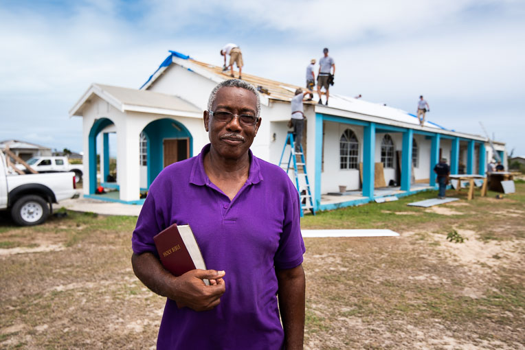 "PASTOR WILLIAM ROSE OF THE HOPE FOR YOU COMMUNITY CHURCH ON BARBUDA CHARACTERIZED IRMA AS A ""MONSTER."" IT SHREDDED THE CHURCH'S GALVANIZED ROOF."