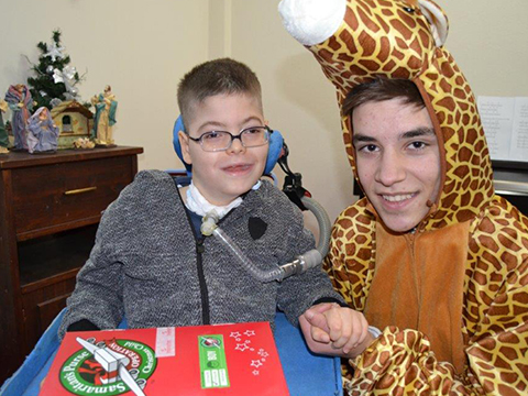 The Giraffe who learned about Christmas
