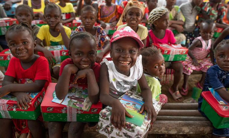Group of children in Liberia