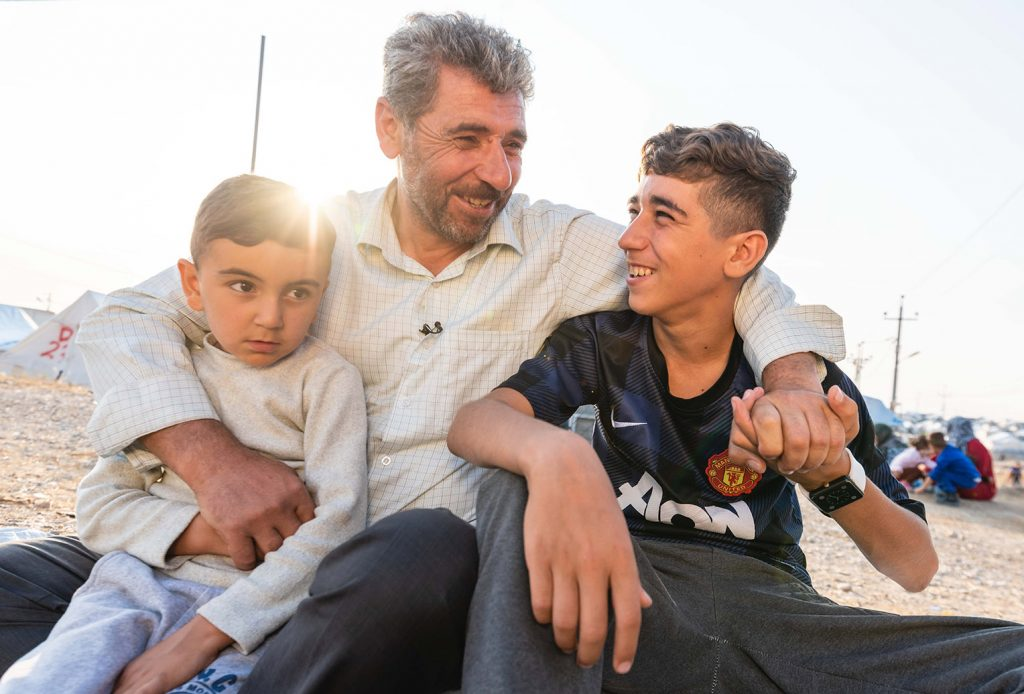 This family is now thankful to be safe in Bardarash camp