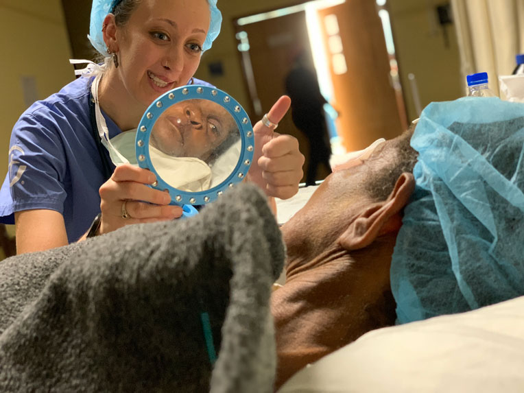 Secoh Mahn lived with a severe cleft lip for more than six decades. That changed this year.