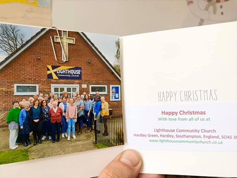 Card sent from Southampton Church