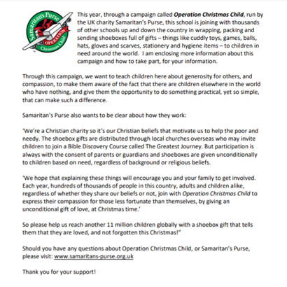 Parent introduction letter to OCC