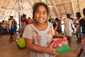Shoebox gifts meet grateful hearts in Tarawa where local churches are busy reaching communities through Operation Christmas Child.