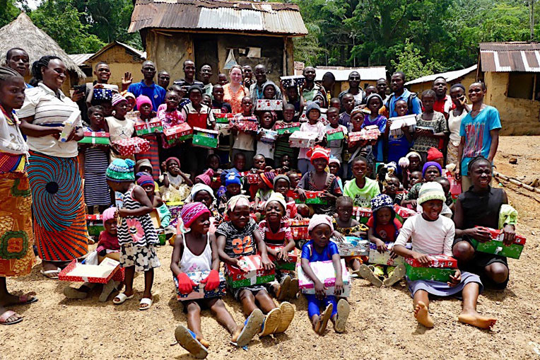 THE CHILDREN IN BOLO HAD NEVER BEFORE RECEIVED TREASURES LIKE THOSE THEY FOUND IN THEIR OPERATION CHRISTMAS CHILD SHOEBOXES. GOD USED THESE GIFTS TO OPEN THEIR HEARTS TO GOD'S GREATEST GIFT, HIS SON JESUS CHRIST, AND A CHURCH WAS STARTED IN THE VILLAGE.