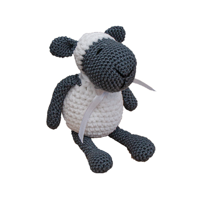 B&W crochet bobble sheep