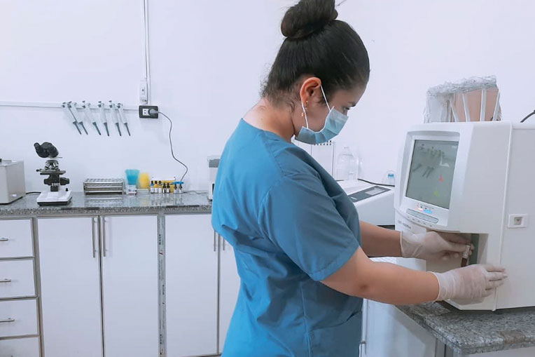 Syrians especially appreciate the laboratory services at the clinic.