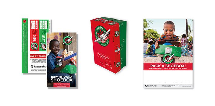 Leaflets, shoeboxes and posters