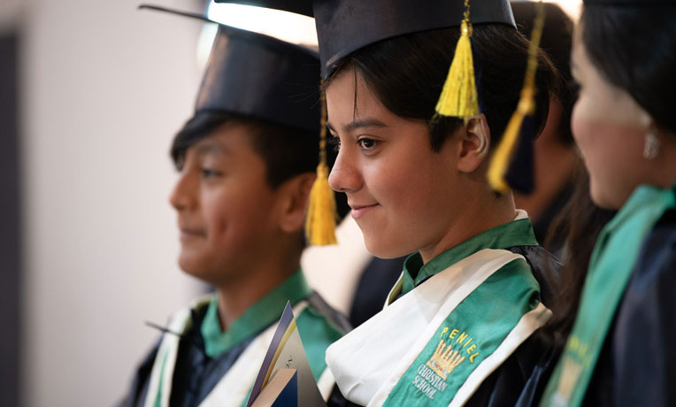 Children graduating from the greatest journey
