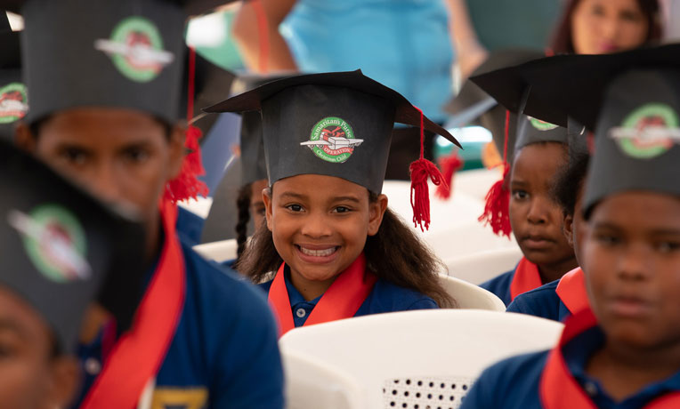 Girl graduating from The Greatest Journey