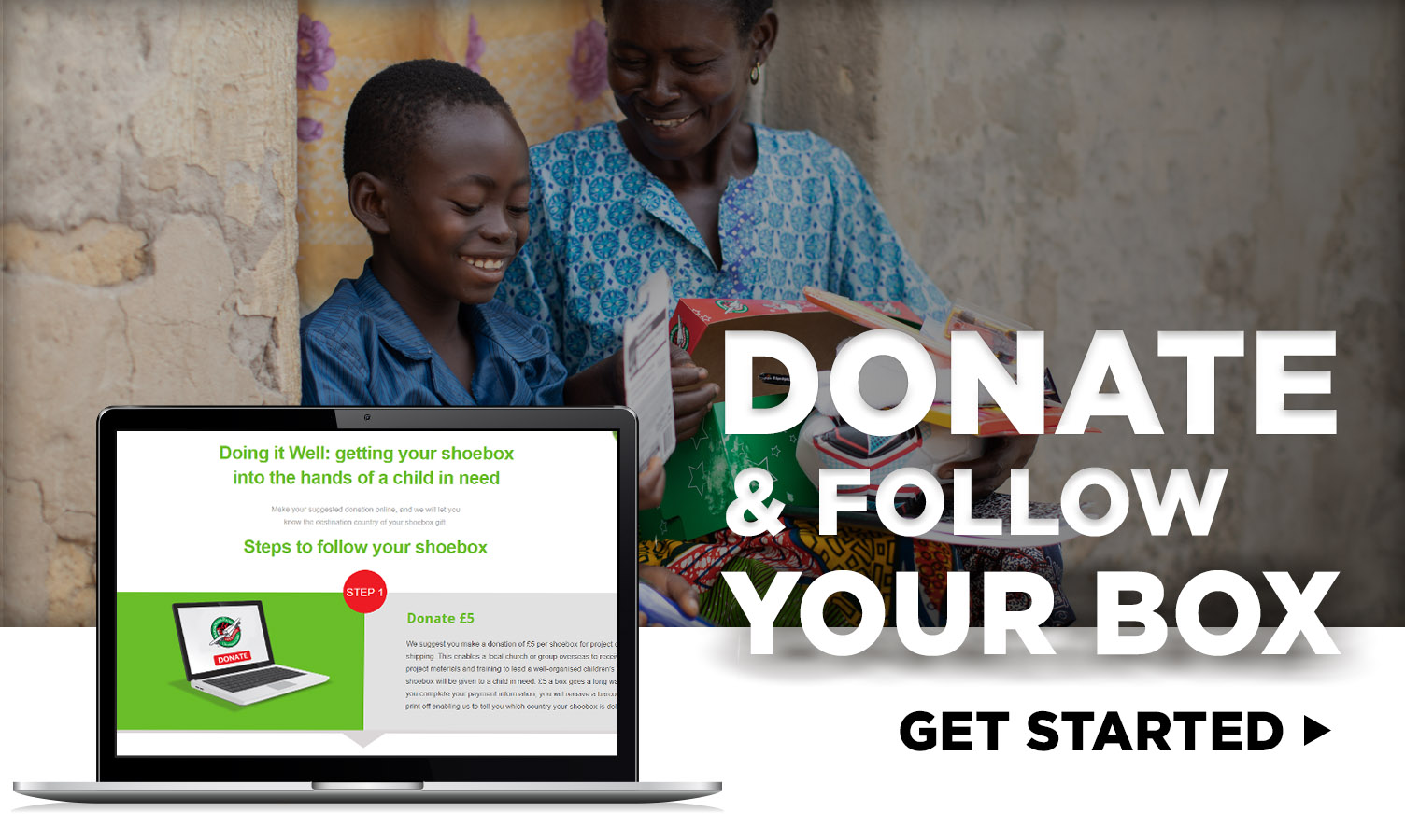 donate and follow your box