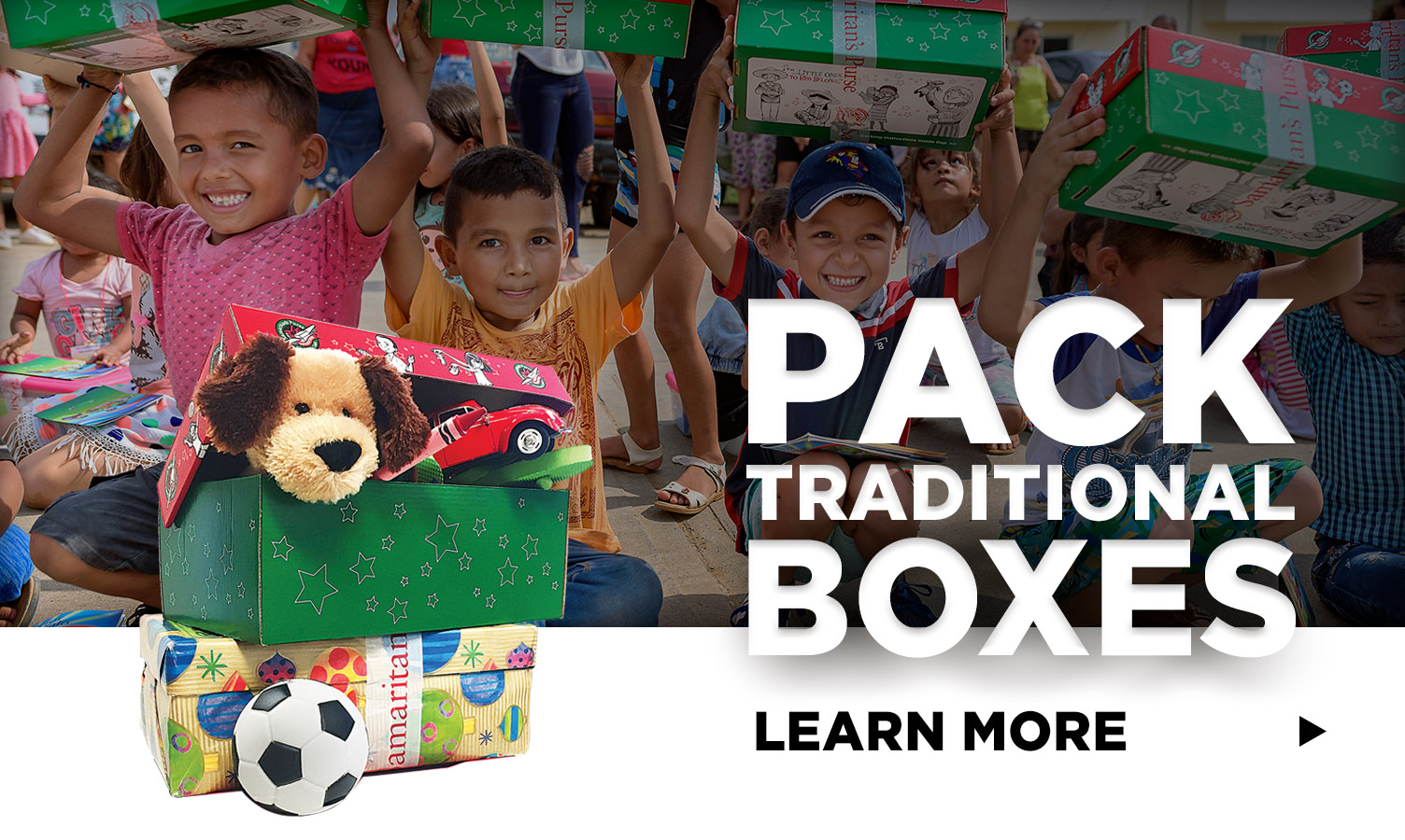 Pack traditional shoeboxes - learn more