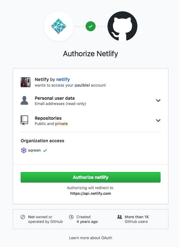 Link your Netlify account to Github