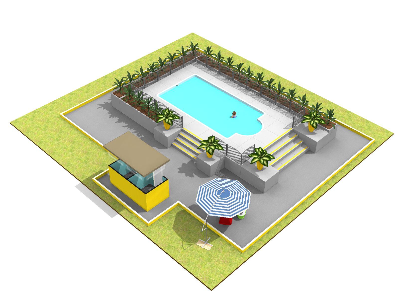 swimming pool 2 homebyme. Black Bedroom Furniture Sets. Home Design Ideas