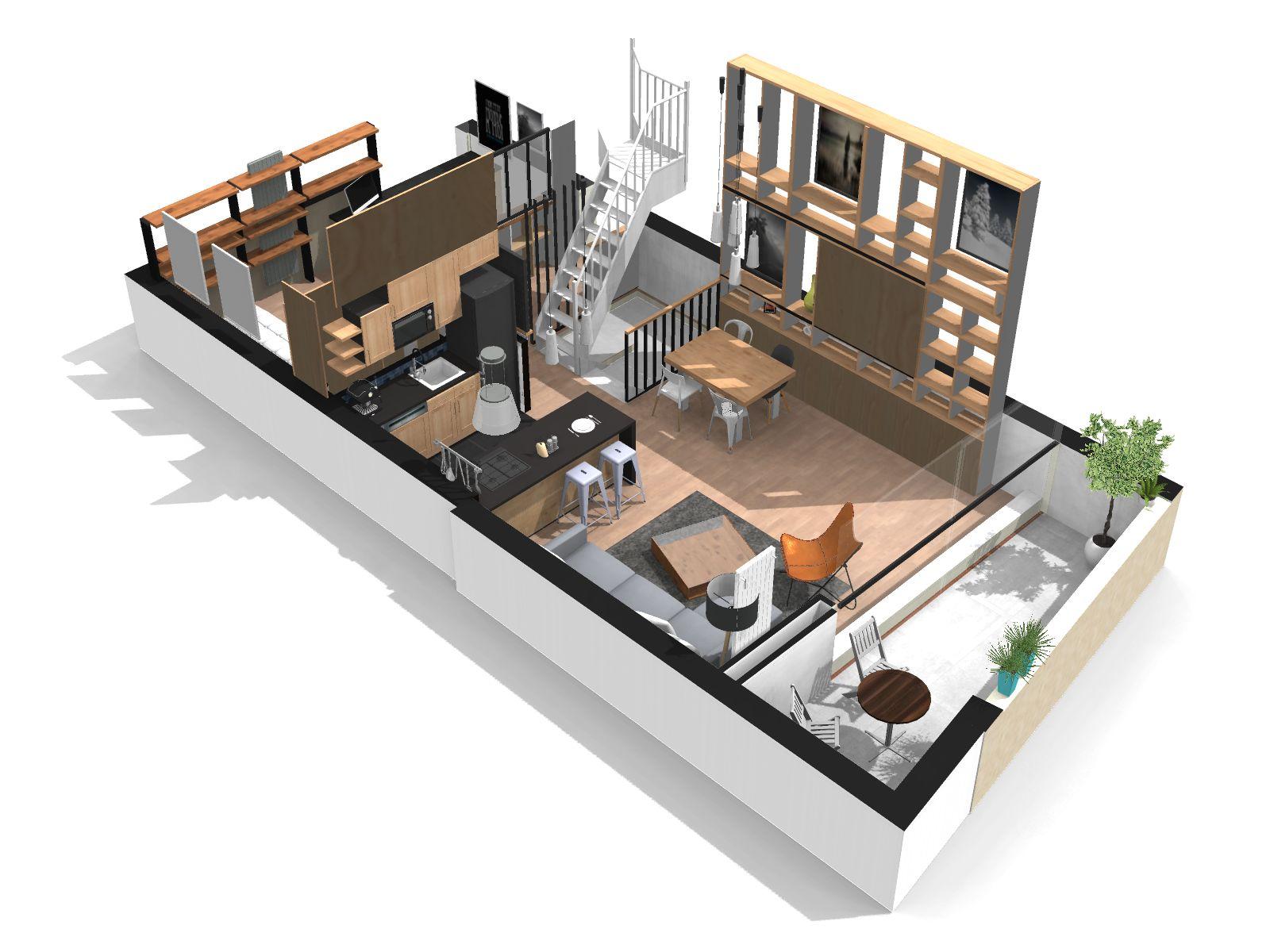 plan couste final 6 homebyme. Black Bedroom Furniture Sets. Home Design Ideas