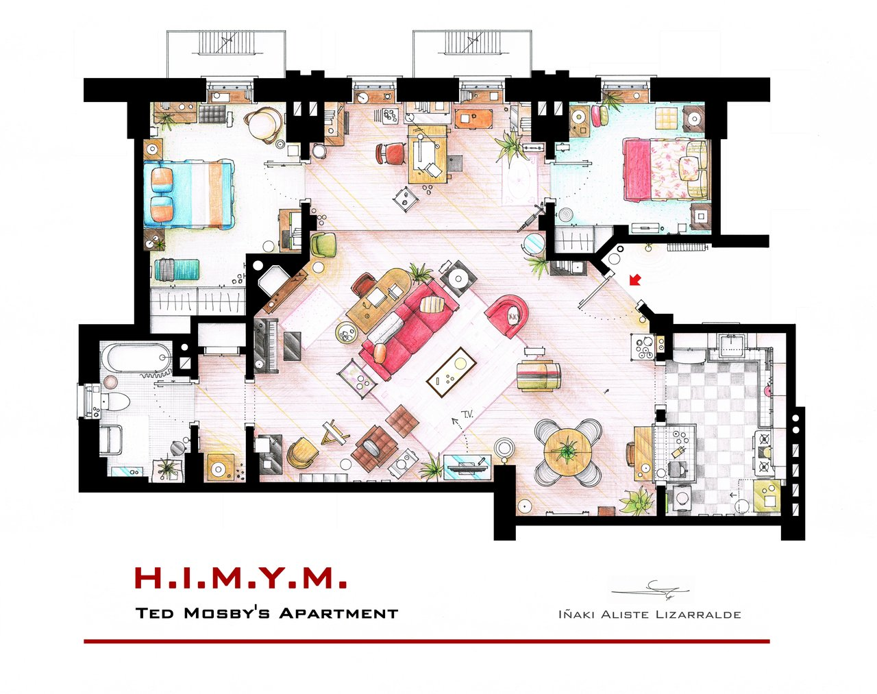 How I Met Your Mother Apartment In 3d Homebyme