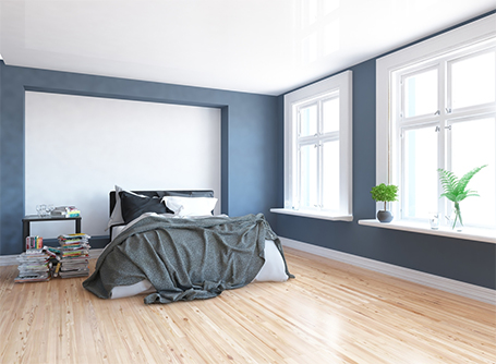 In the bedroom the trend coming your way is the blue or green accent wall in an otherwise white environment. This Scandinavian-style bedroom has such a ... & New Scandinavian style trends heading your way | HomeByMe
